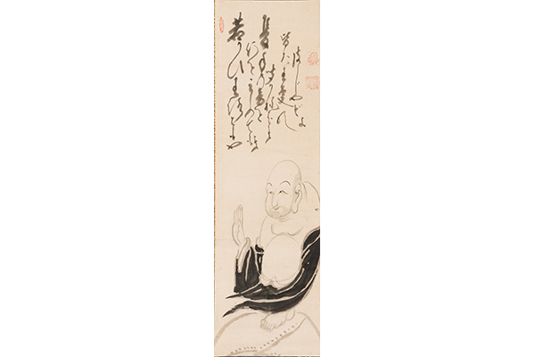 One hand clapping, by Hakuin Ekaku (Japanese, 1685-1768). Hanging scroll; ink on paper. Gift from The Collection of George Gund III, 2016.53.